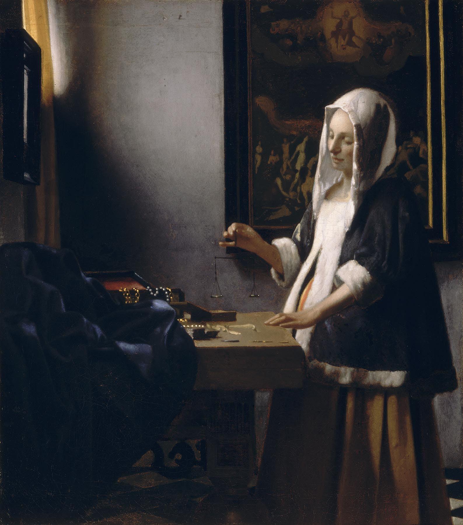 Woman Holding a Balance - Johannes Vermeer - WikiArt.org ...