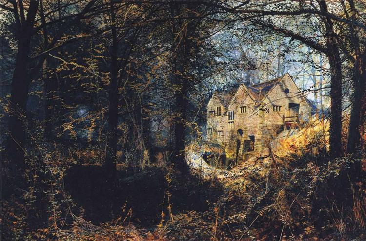 Autumn Glory: The Old Mill, 1869 - John Atkinson Grimshaw