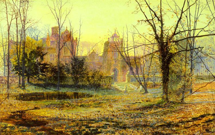 Evening, Knostrop Old Hall, 1870 - John Atkinson Grimshaw