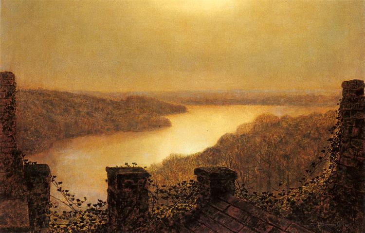 Roundhay lake, From Castle, 1893 - John Atkinson Grimshaw