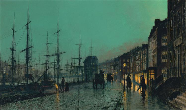 Shipping on the Clyde - John Atkinson Grimshaw