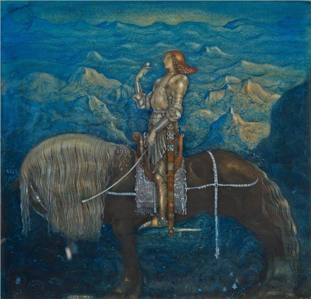 En riddare red fram, 1915 - John Bauer