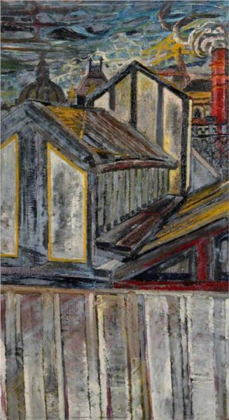 Roofscape - John Bratby