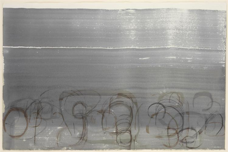 New River Watercolor, Series IV, No. 6, 1988 - John Cage