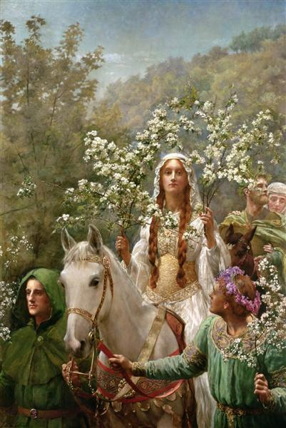 Queen Guinevre's Maying, 1900 - John Collier
