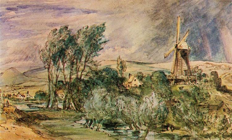 Foord Rd Mill, Folkestone, 1833 - John Constable