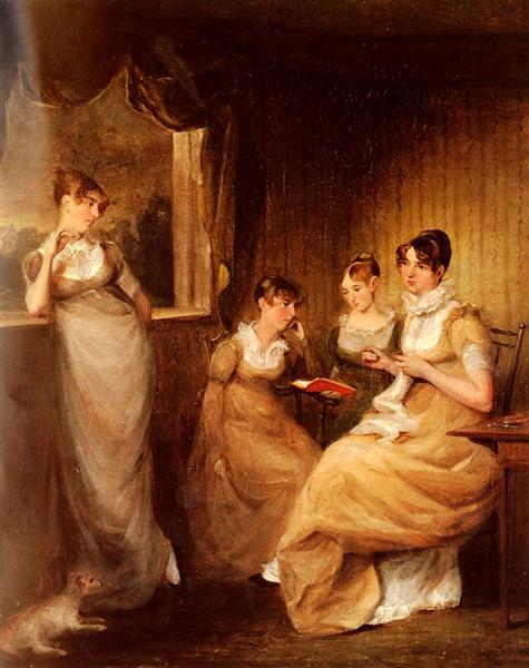Ladies From The Family Of Mr William Mason Of Colchester - John Constable