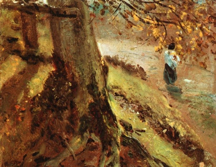 Study of tree trunks - John Constable