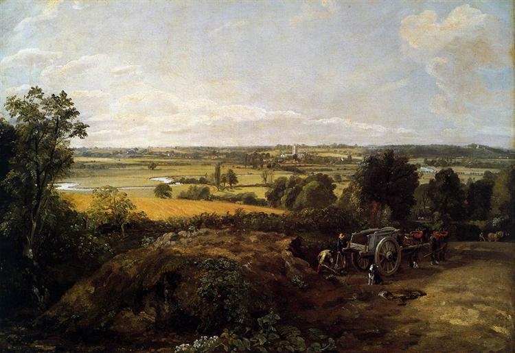 The Stour Valley with the Church of Dedham, 1814 - John Constable