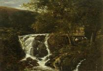 Landscape with a Waterfall near Norwich, Norfolk - Джон Кром