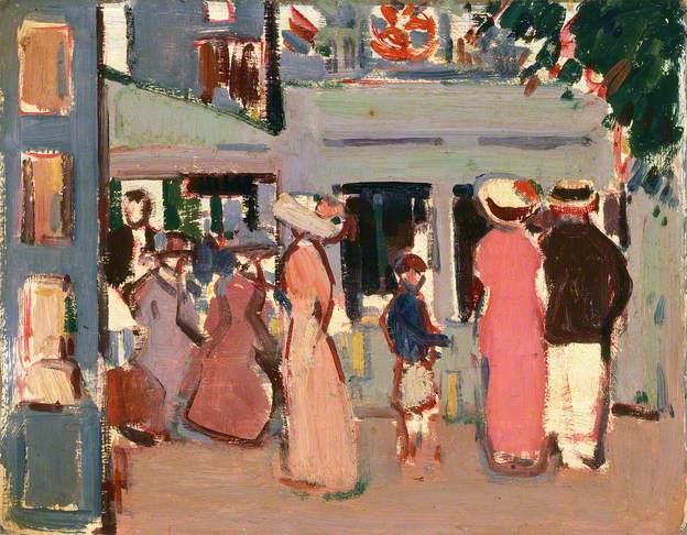 Before a Café: Paris, 1907 - John Duncan Fergusson