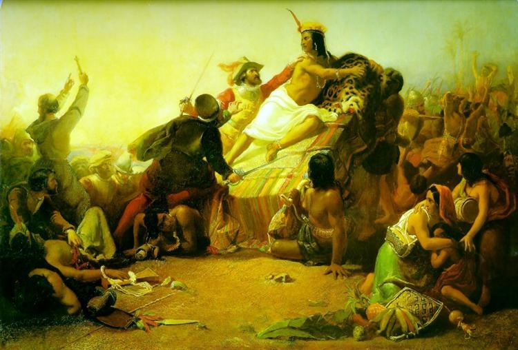 Pizarro Seizing the Inca of Peru, 1846 - Джон Эверетт Милле