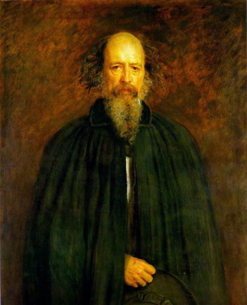Portrait of Lord Alfred Tennyson - John Everett Millais
