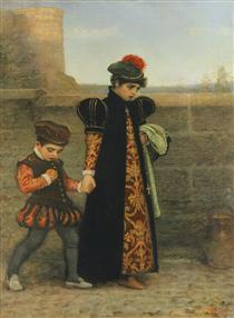 The Girlhood of St. Teresa - John Everett Millais
