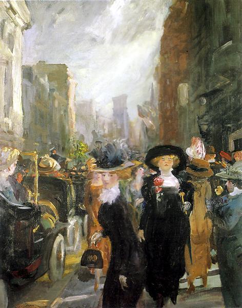 Fifth Avenue, New York, 1911 - John French Sloan