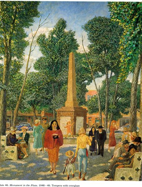 Monument in the Plaza, New York, 1949 - John French Sloan
