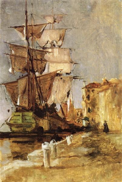 Venetian Sailing Vessel, 1878 - John Henry Twachtman