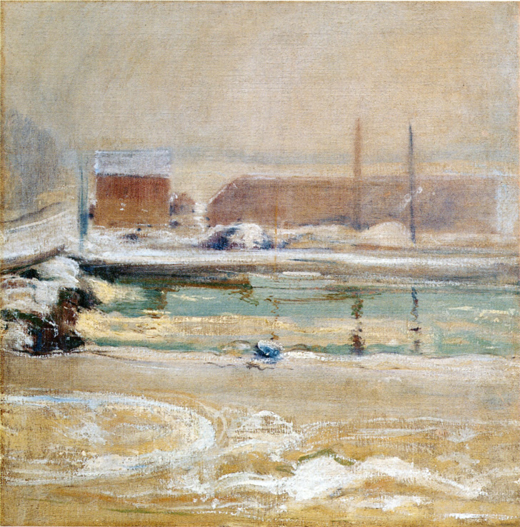 View from the Holley House, Winter, 1901