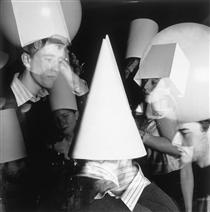 Cubist Party (Seen From Three Sides Of A Cone) - John Hilliard