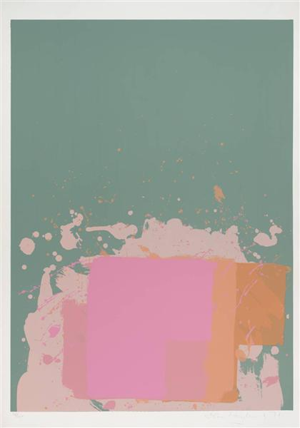 Green, Orange, Pink, 1971 - John Hoyland