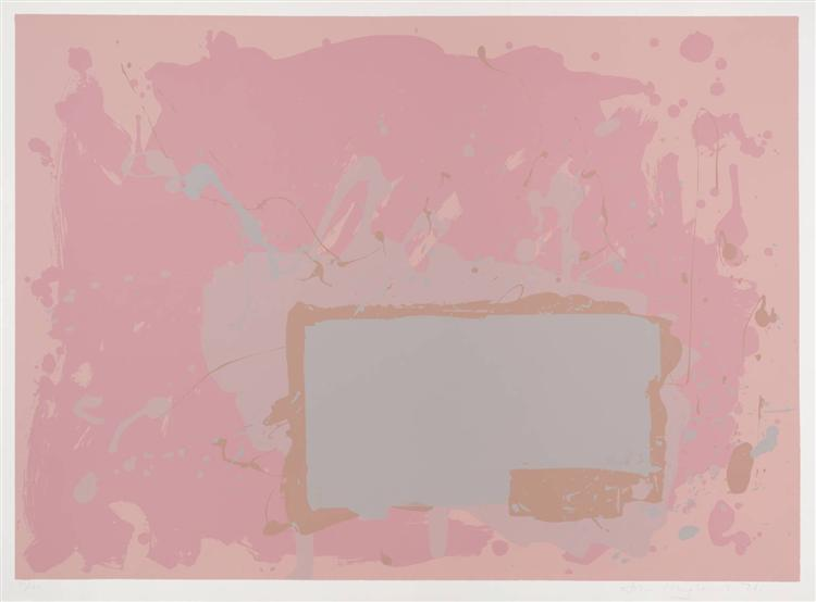 Grey / Blue on Pink, 1971 - John Hoyland