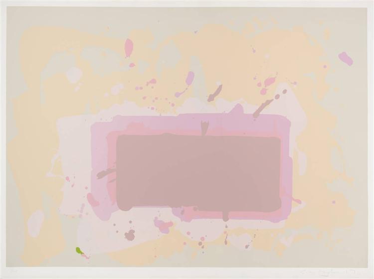 Pale Yellow, Pink and Brown, 1971 - John Hoyland