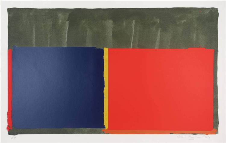 Red, Blue, 1969 - John Hoyland