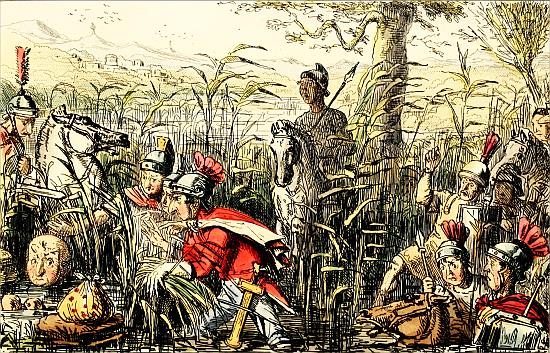 Marius discovered in the Marshes at Minturnæ - John Leech