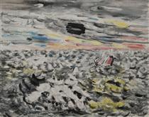 Movement in Greys and Yellows - John Marin