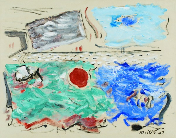 Movement: Sea, Ultramarine and Green; Sky, Cerulean and Grey, 1947 - John Marin