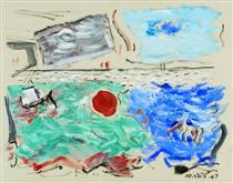 Movement: Sea, Ultramarine and Green; Sky, Cerulean and Grey - John Marin