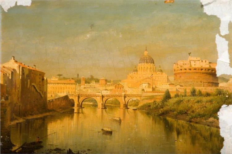 Rome, the Bridge of Sant'Angelo - John O'Connor