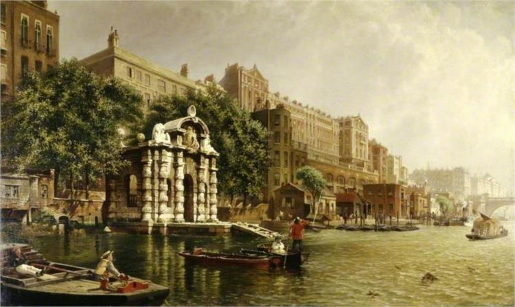 York Watergate and the Adelphi from the River, London, 1872 - John O'Connor