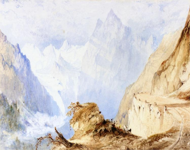 A View in the Alps, 1835 - John Ruskin