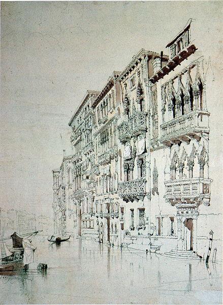 Casa Contarini Fasan Venice, 1841 - John Ruskin