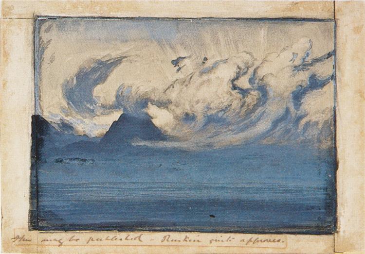 July Thundercloud in the Val d'Aosta, 1858 - John Ruskin