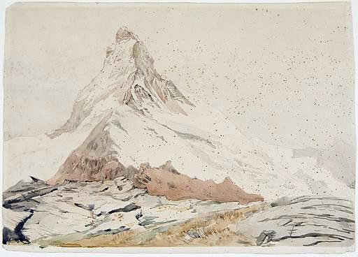 Matterhorn, 1849 - John Ruskin