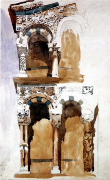 Part of the Façade San Michele Lucca, 1845 - John Ruskin