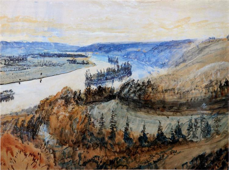 River Seine and its Islands, 1880 - John Ruskin