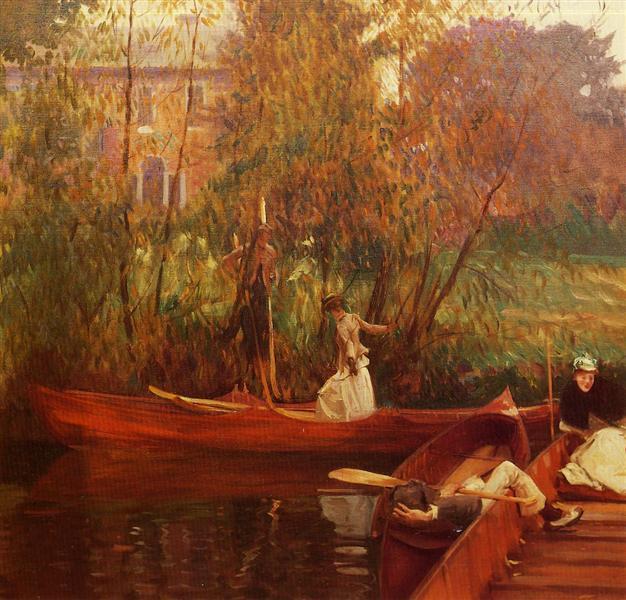 A boating party, c.1889 - Джон Сінгер Сарджент