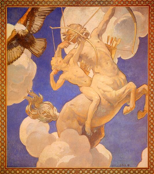 Chiron and Achilles, 1921 - John Singer Sargent