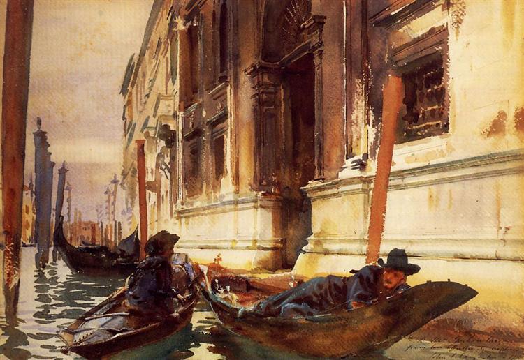 Gondolier's Siesta, 1905 - John Singer Sargent