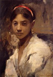 Head of a Capri Girl - John Singer Sargent