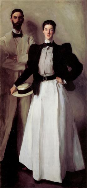 Mr. and Mrs. Isaac Newton Phelps Stokes, 1897 - John Singer Sargent