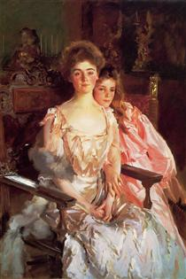 Mrs Fiske Warren (Gretchen Osgood) and her Daughter Rachel - John Singer Sargent