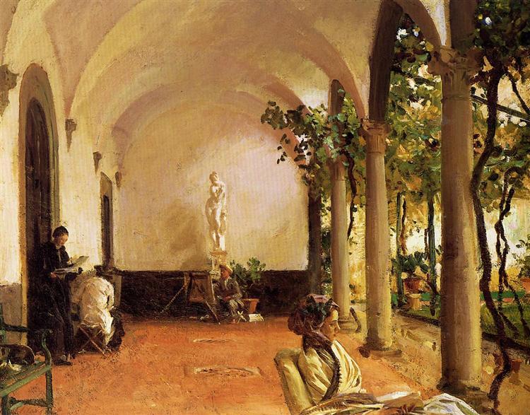 Villa Torre Galli The Loggia, 1910 - John Singer Sargent