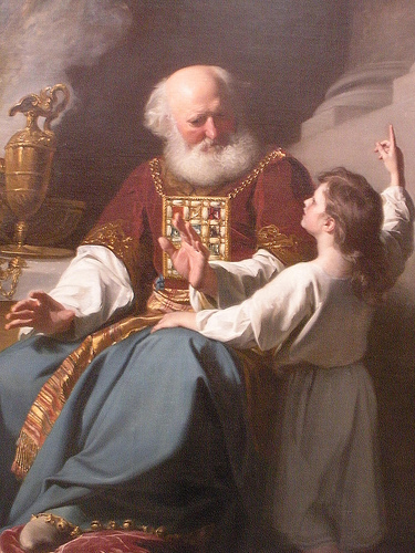 Painting of Samuel learning from Eli, 1780 - John Singleton Copley