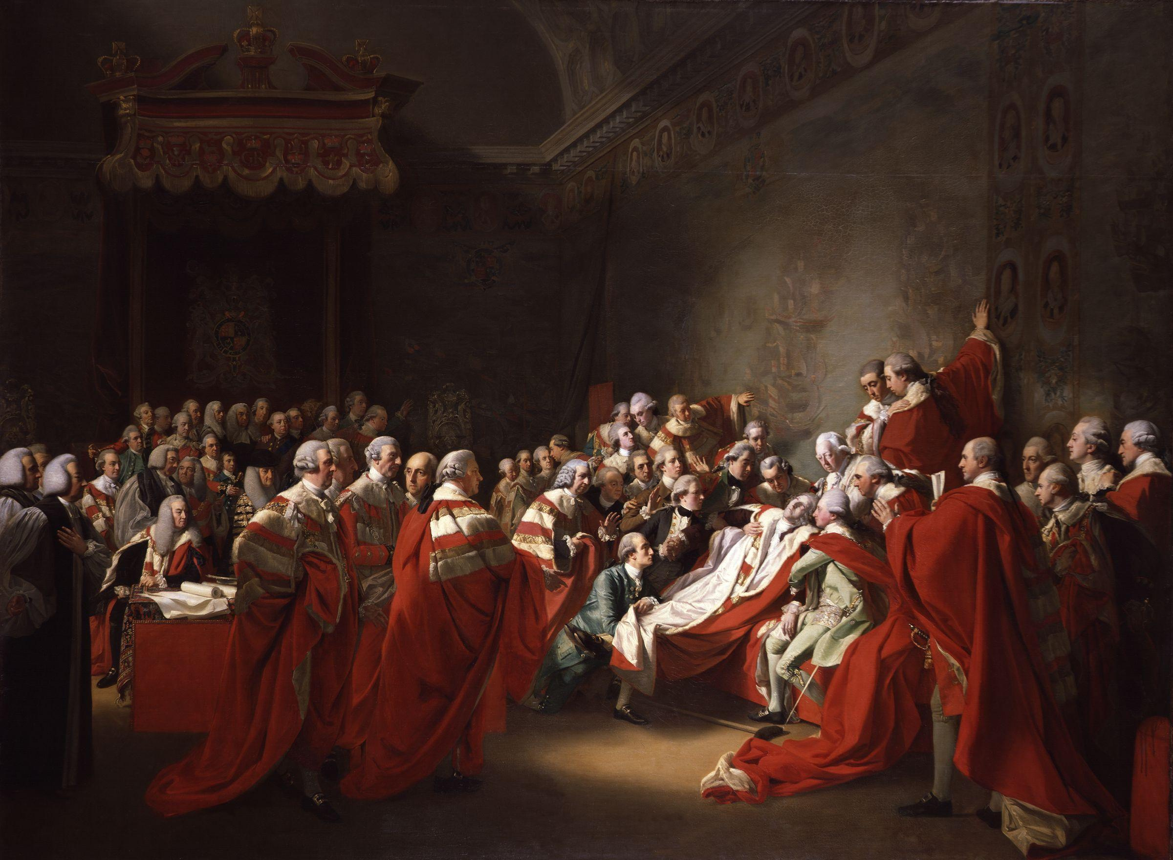 The Death Of The Earl Of Chatham John Singleton Copley