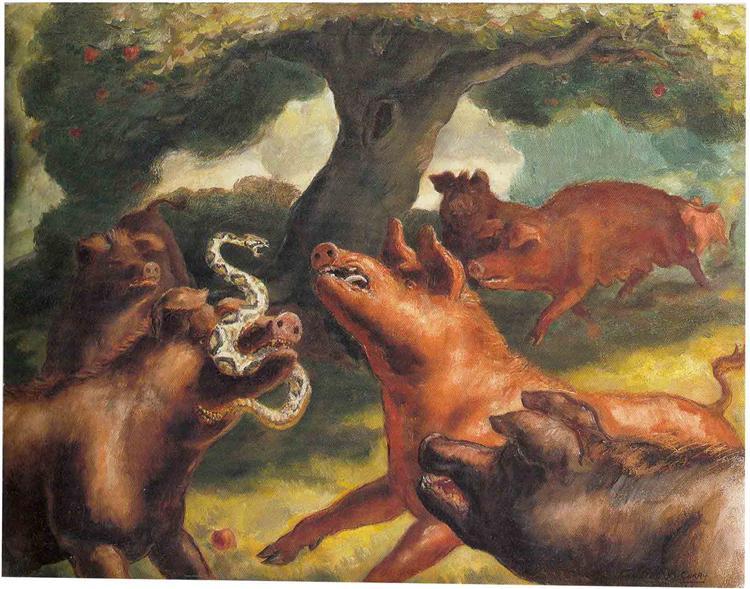 Hogs Killing a Snake, 1930 - John Steuart Curry