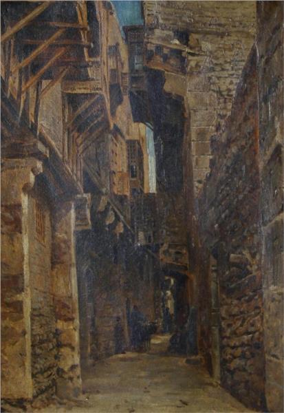 The Coptic Quarter, Cairo, 1880 - John Varley II